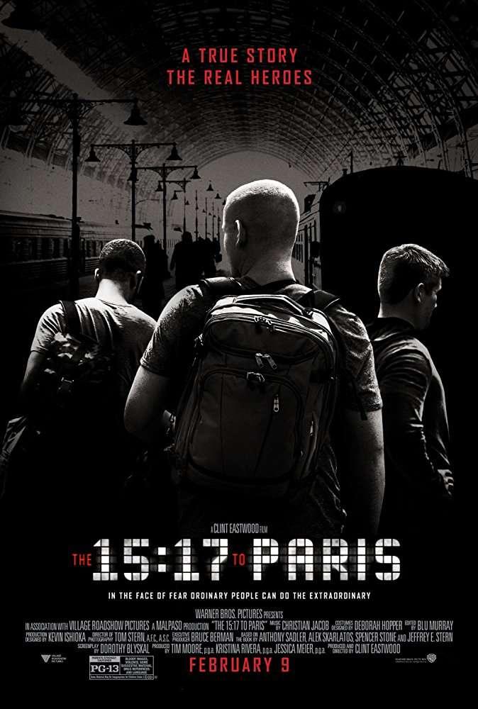 The 15 17 to Paris 2018 1080p BrRip 6CH x265 HEVC-PSA