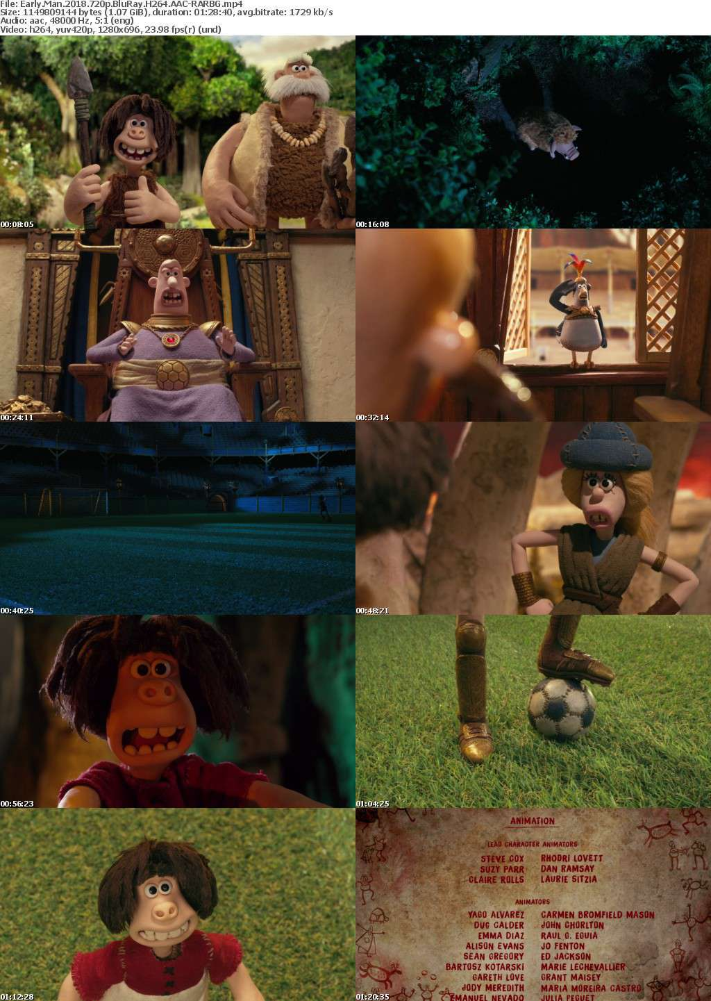 Early Man 2018 720p BluRay H264 AAC-RARBG