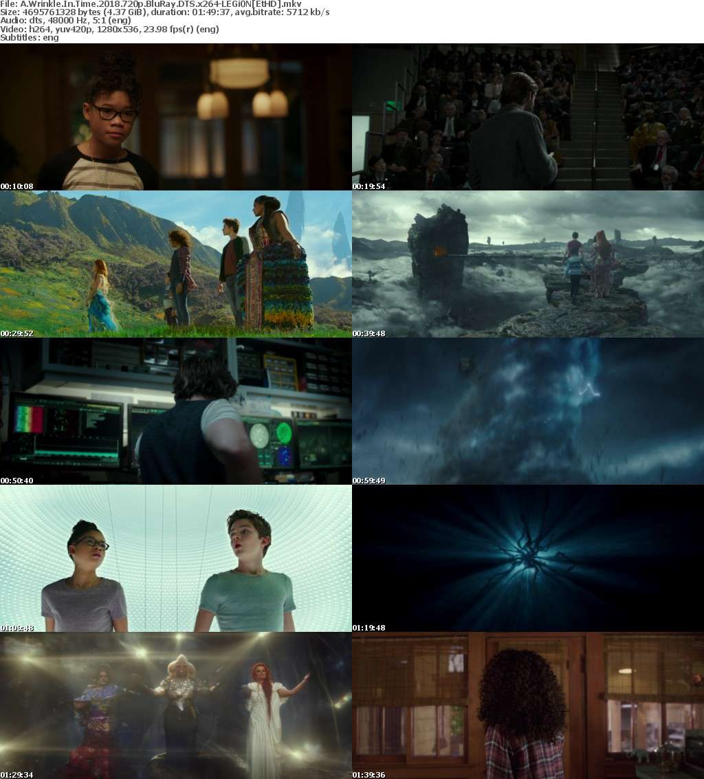 A Wrinkle In Time (2018) 720p BluRay DTS x264-LEGi0N