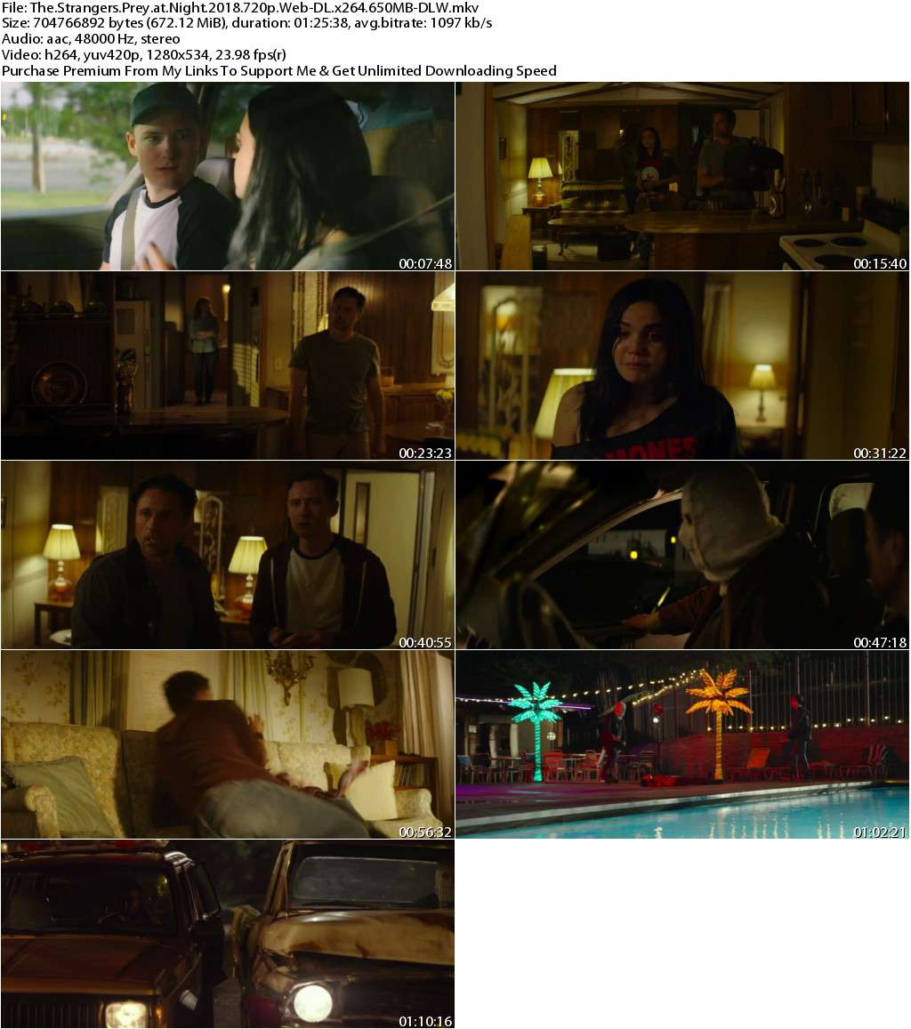 The Strangers Prey at Night (2018) 720p WEB-DL x264 650MB-DLW