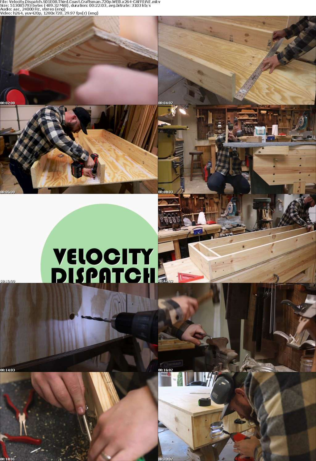 Velocity Dispatch S01E08 Third Coast Craftsman 720p WEB x264-CAFFEiNE