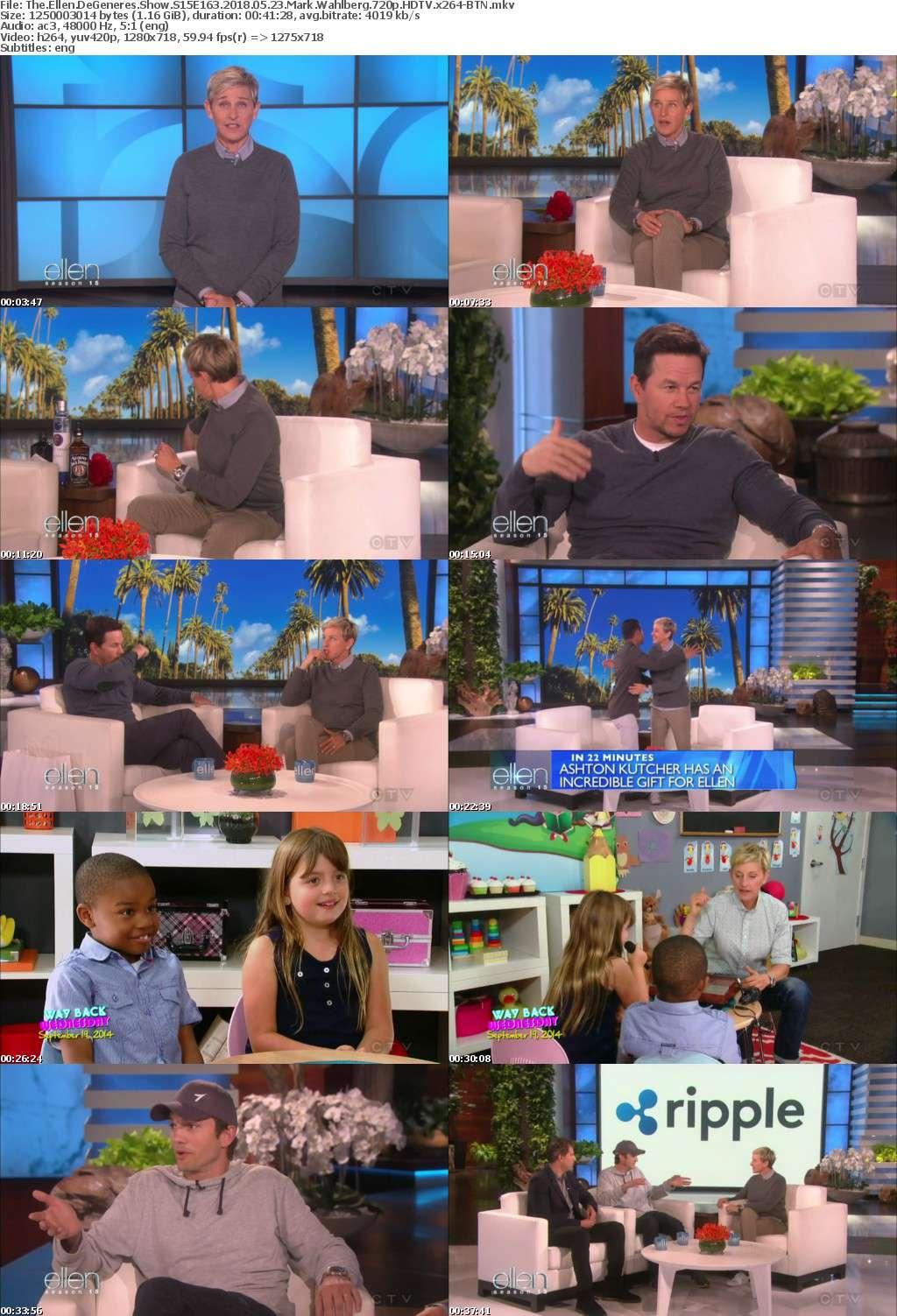 The Ellen DeGeneres Show S15E163 2018 05 23 Mark Wahlberg 720p HDTV x264-BTN