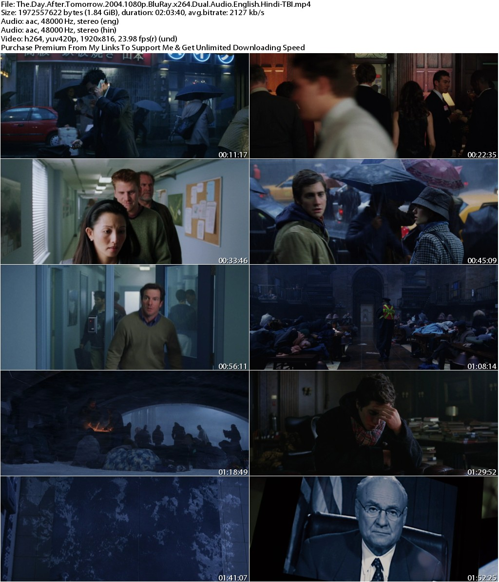 The Day After Tomorrow (2004) 1080p BluRay x264 Dual Audio [English+Hindi]-TBI