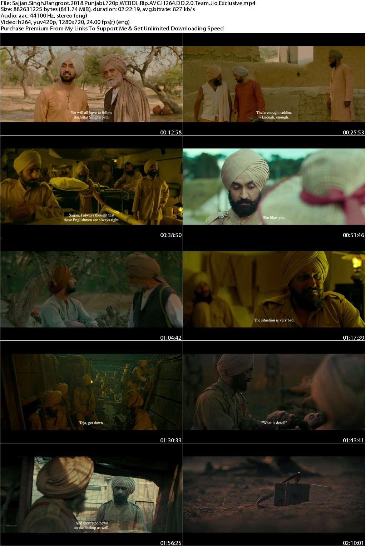 Sajjan Singh Rangroot (2018) Punjabi 720p WEBDL Rip AVC H264 DD 2.0-Team.Jio.Exclusive