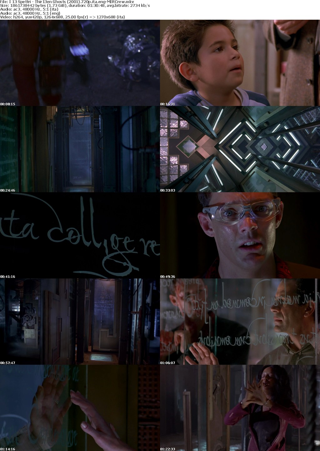 Thir13en Ghosts - I 13 Spettri (2001) 720p H264 italian english Ac3-5 1 MIRCrew