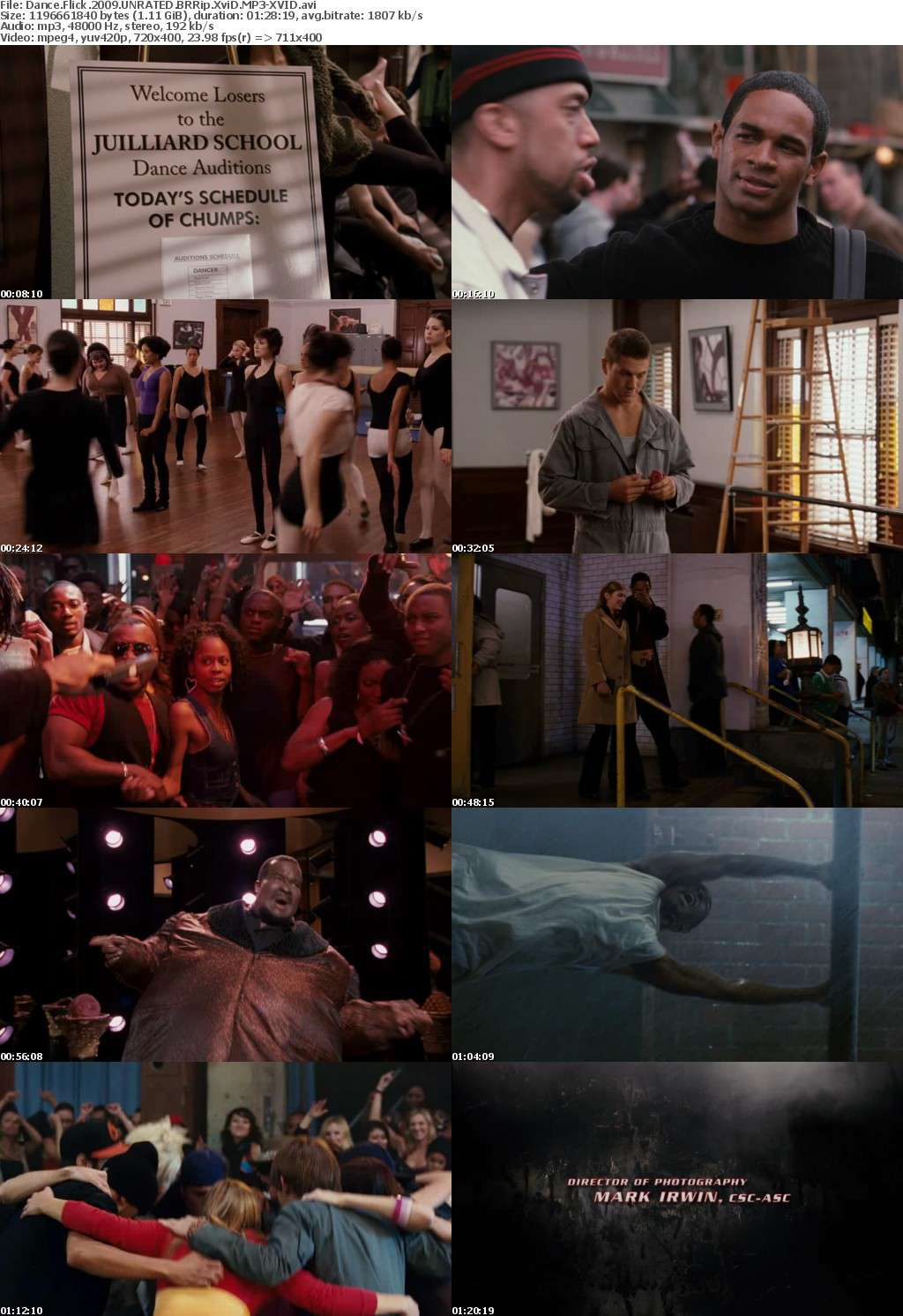 Dance Flick 2009 UNRATED BRRip XviD MP3-XVID