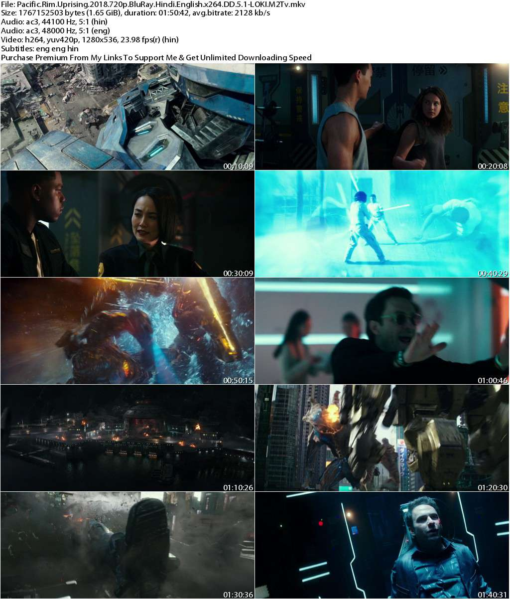 Pacific Rim Uprising (2018) 720p BluRay Dual Audio [Hindi+English] x264 DD 5.1-LOKI M2Tv