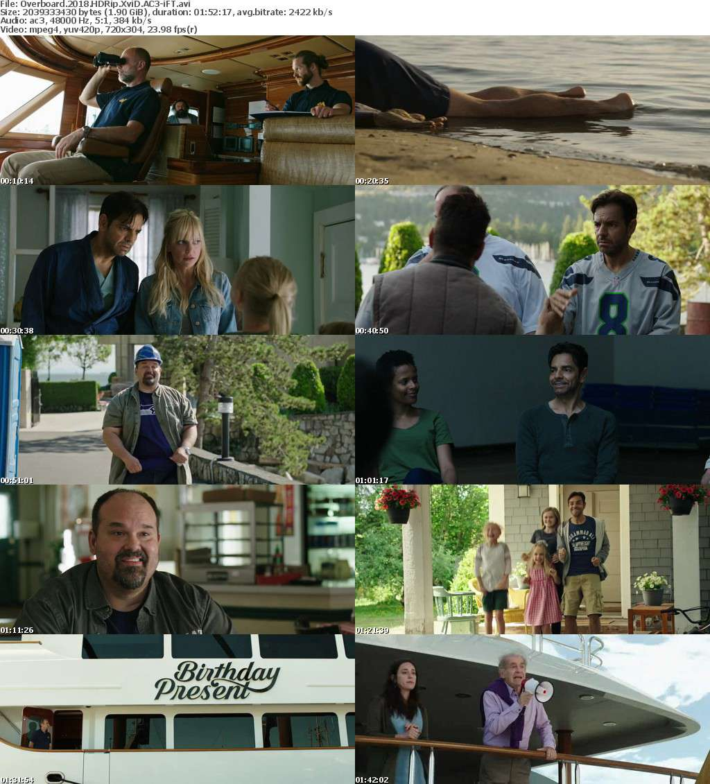 Overboard (2018) HDRip XviD AC3-iFT