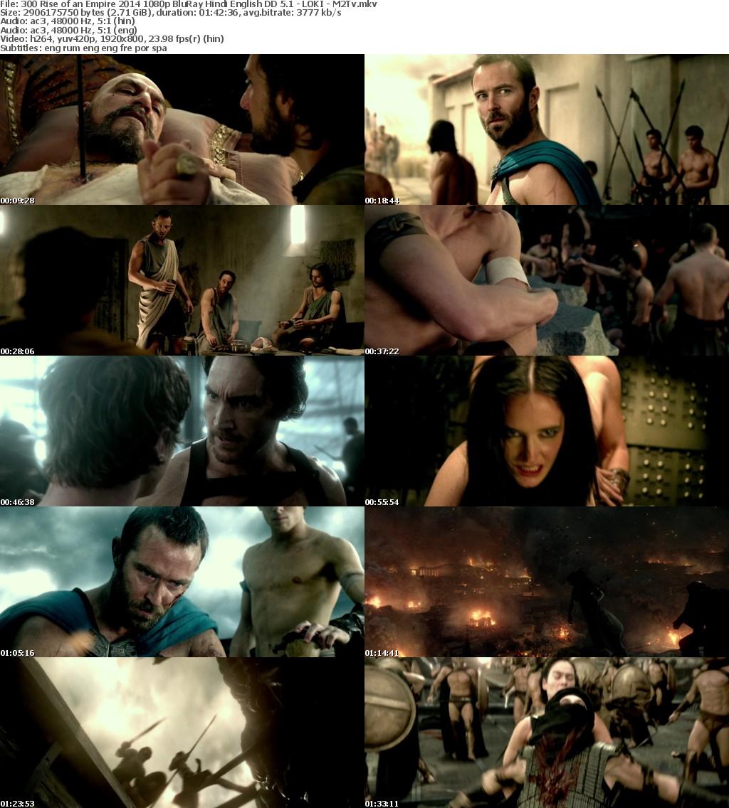 300 Rise of an Empire 2014 1080p BluRay Hindi English DD 5 1 - LOKI - M2Tv