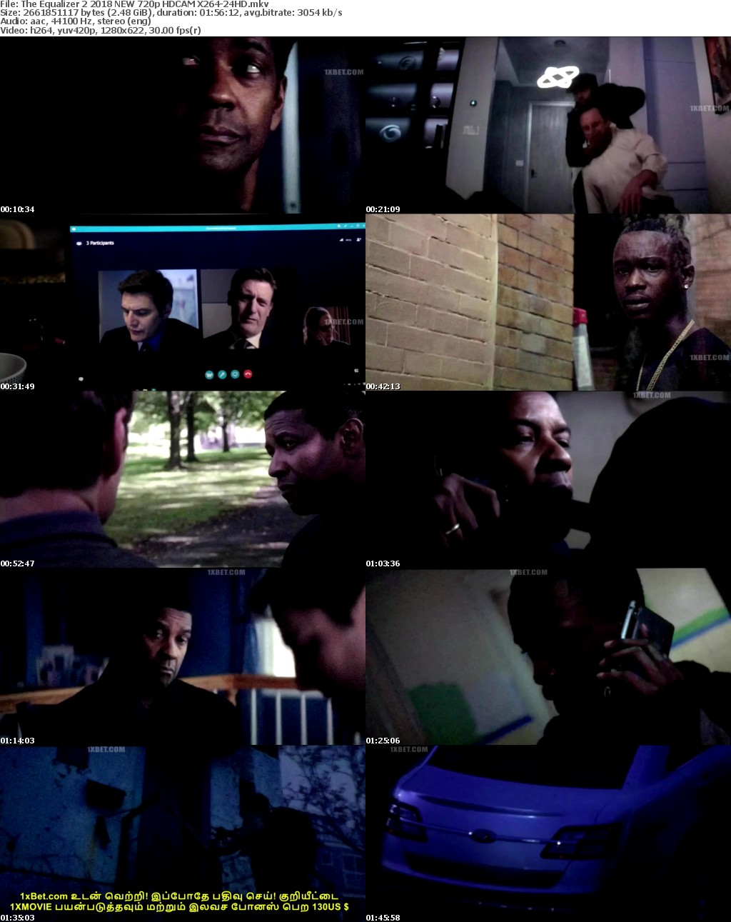The Equalizer 2 (2018) NEW 720p HDCAM X264-24HD