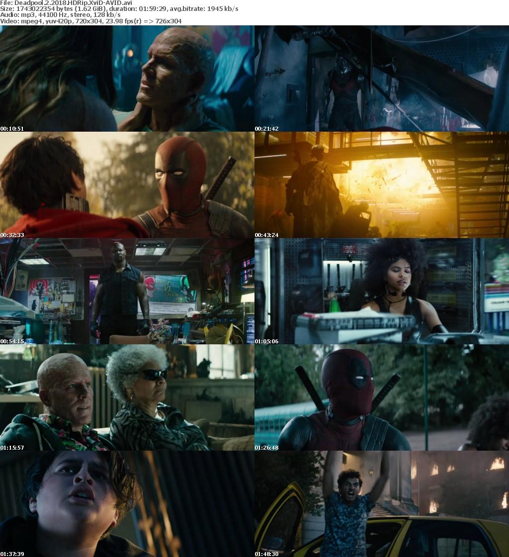 Deadpool 2 (2018) HDRip XviD-AVID