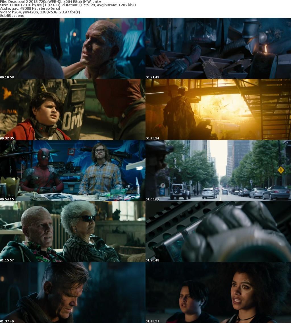 Deadpool 2 (2018) 720p WEB-DL x264 ESub MW