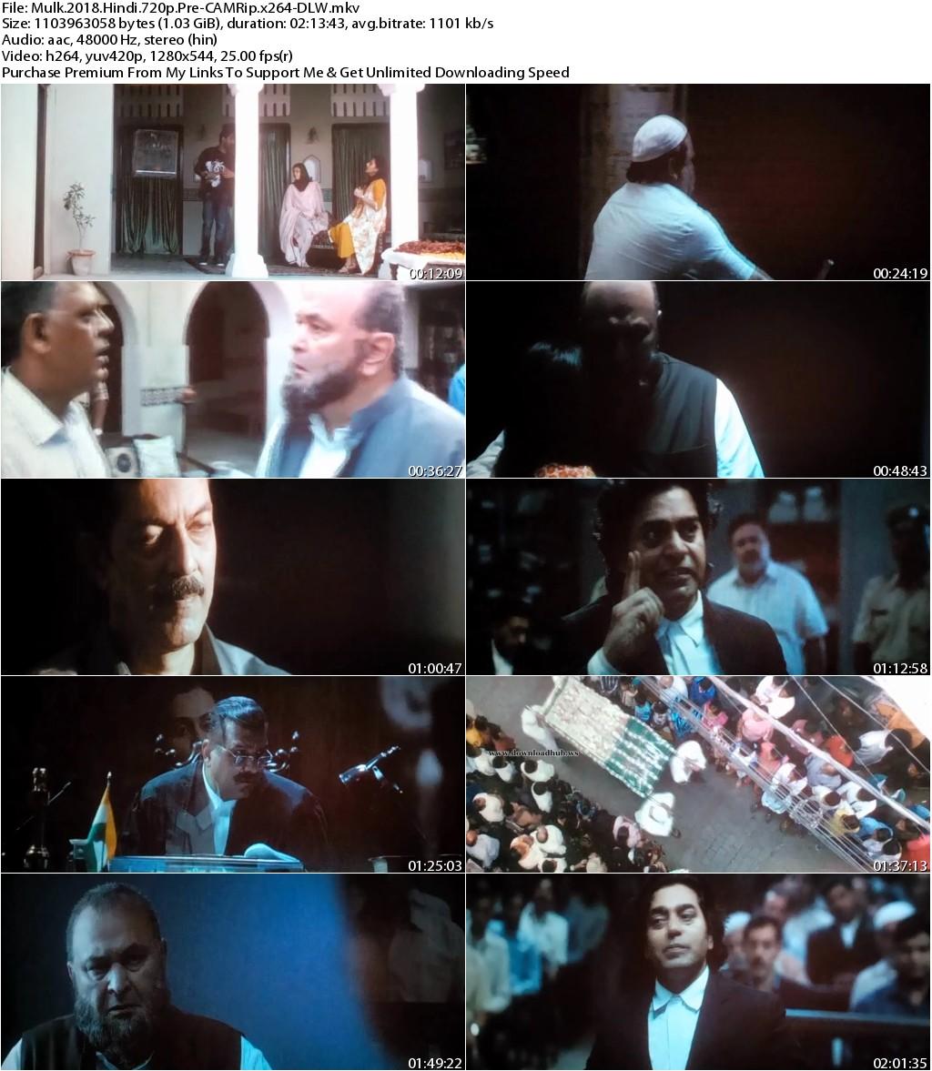 Mulk (2018) Hindi 720p Pre-CAMRip x264-DLW