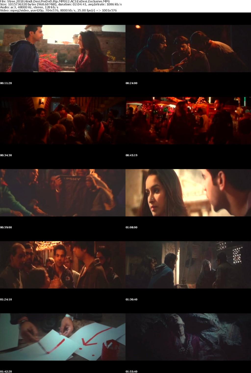 Stree (2018) Hindi Desi Pre CAM Rip MPEG2 AC3 ExDesi Exclusive