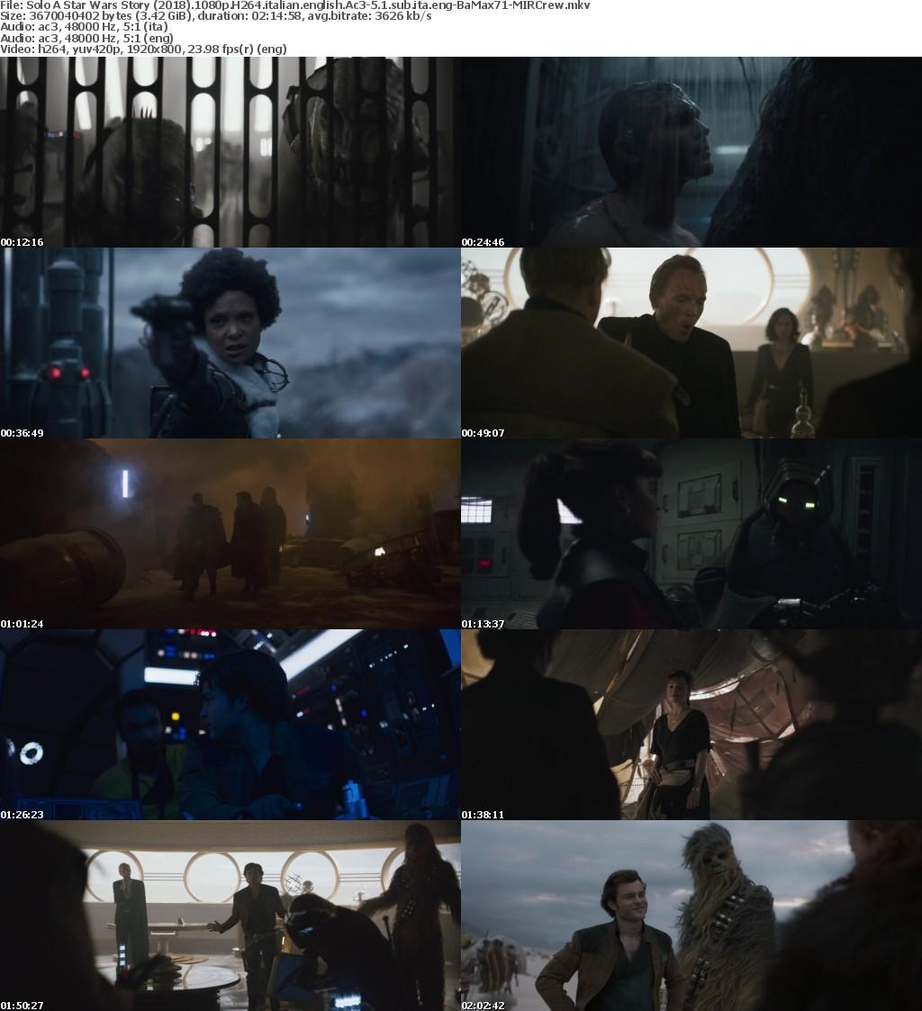 Solo A Star Wars Story (2018) 1080p BRRip H264 [Italian+English] Ac3-5.1-MIRCrew