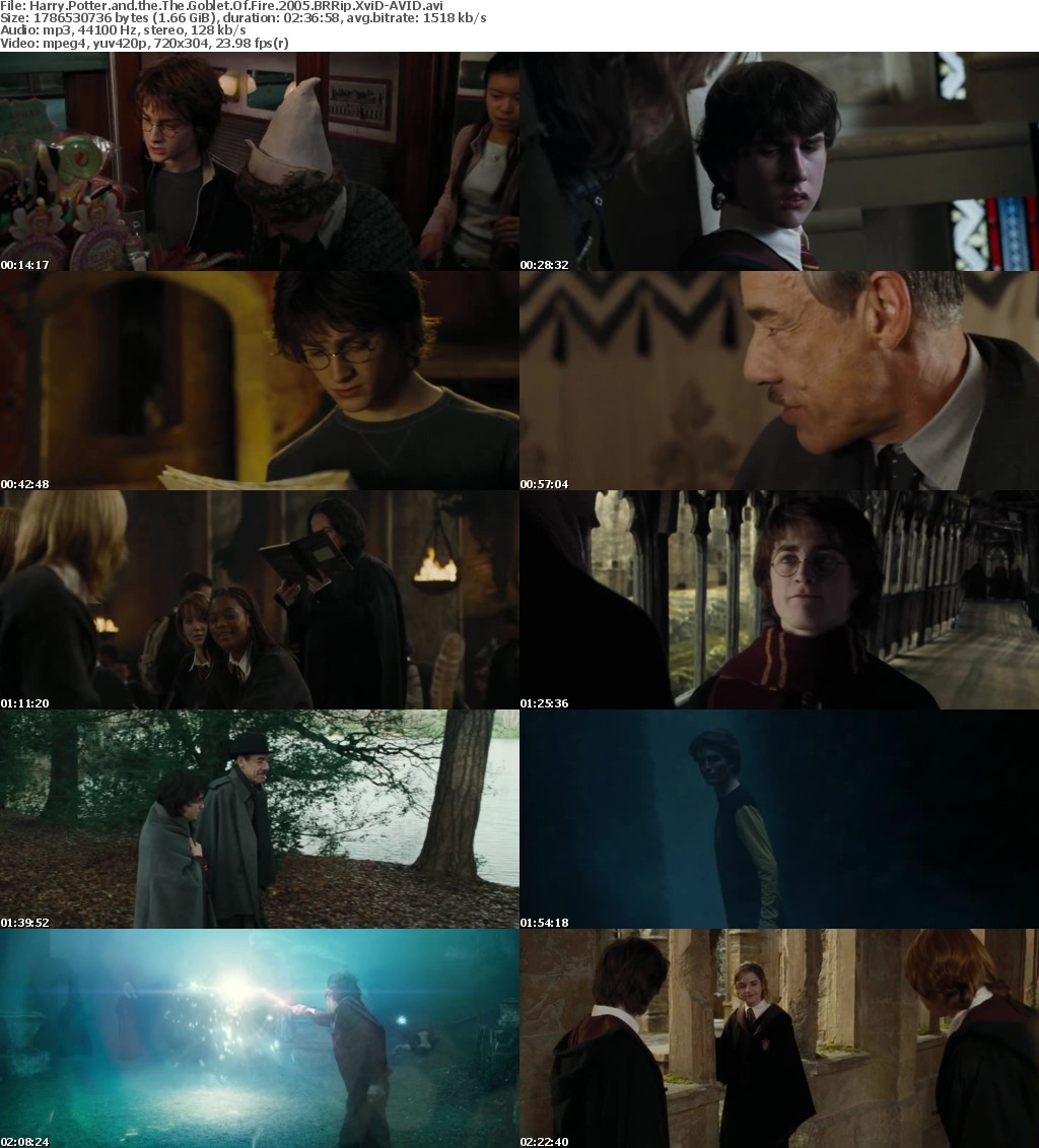 Harry Potter and the The Goblet Of Fire 2005 BRRip XviD-AVID