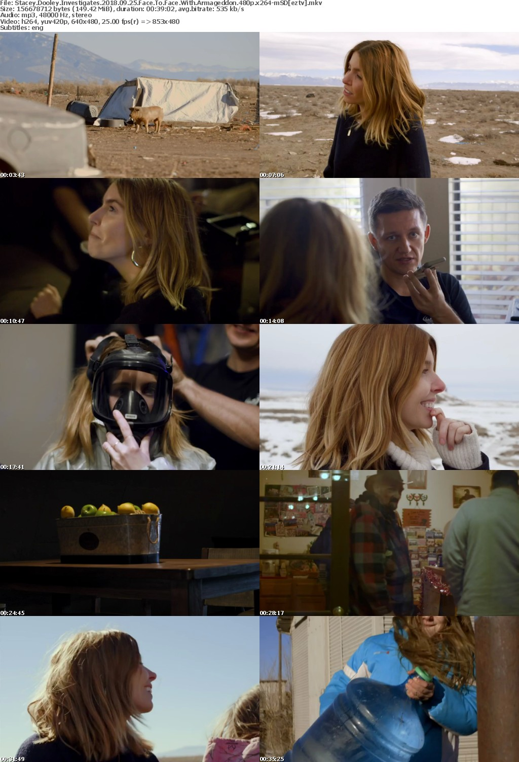Stacey Dooley Investigates 2018 09 25 Face To Face With Armageddon 480p x264-mSD