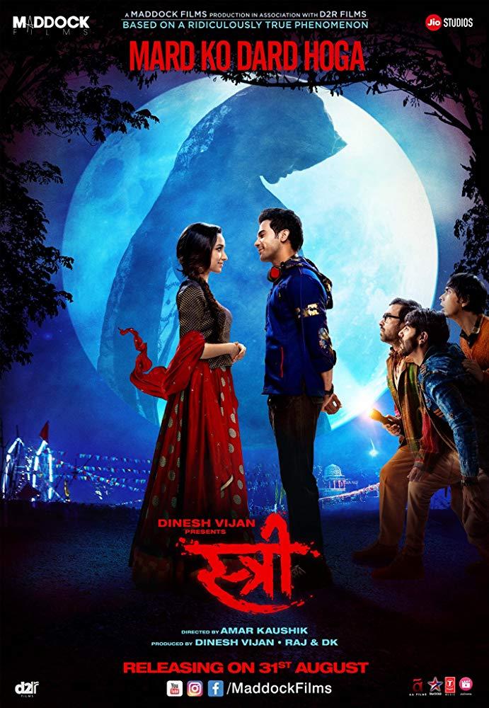 Stree (2018) Hindi 1080p WEB-Rip x264 AC3 DD5 1 - ESUBS ~ Ranvijay