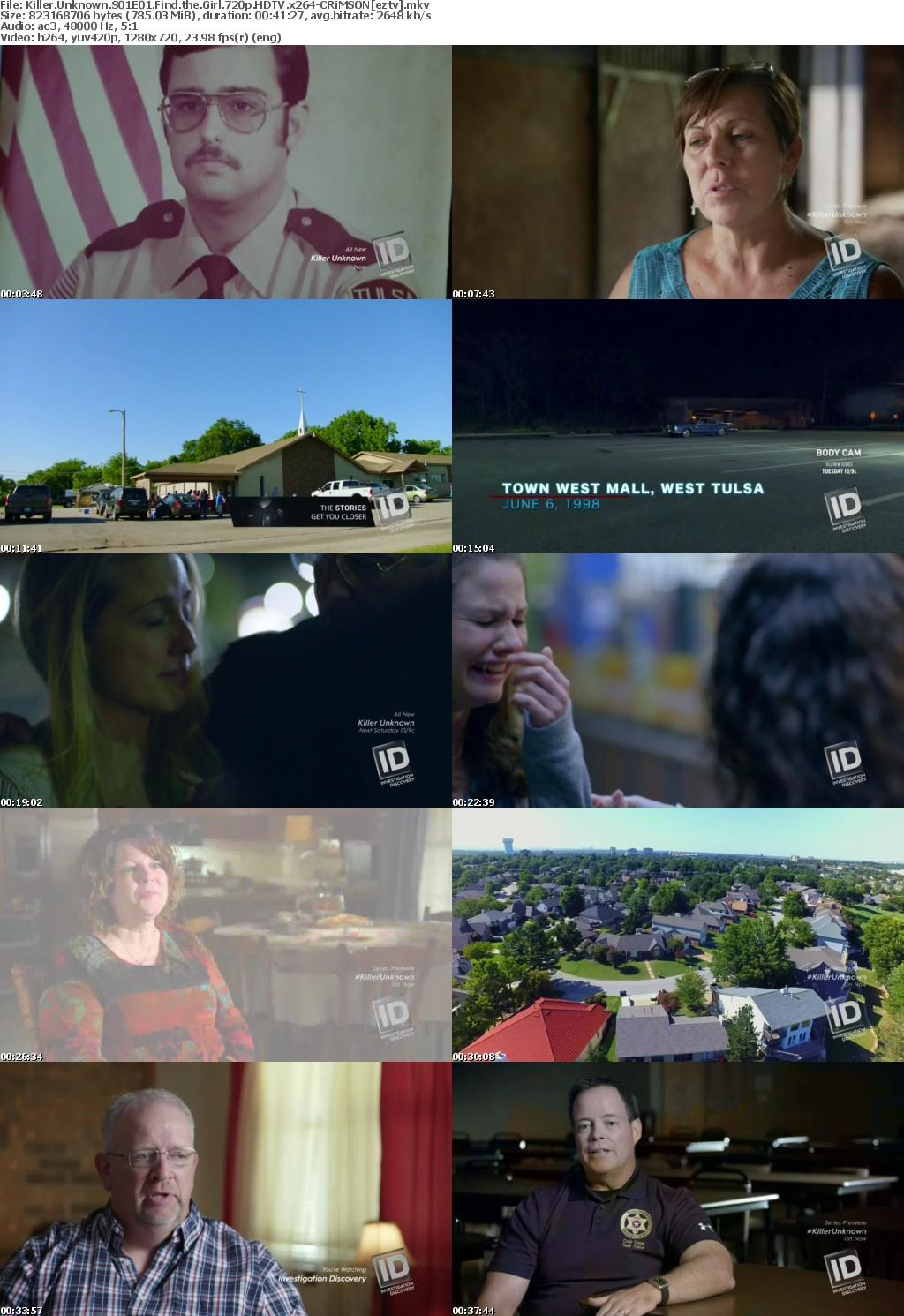 Killer Unknown S01E01 Find the Girl 720p HDTV x264-CRiMSON