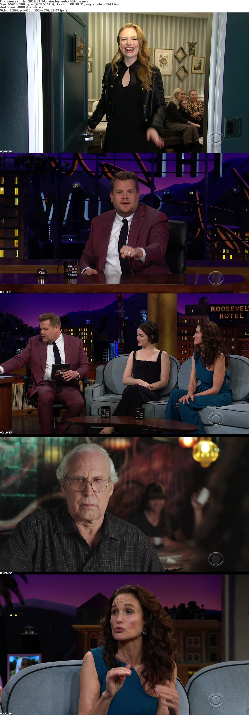 James Corden 2019 01 14 Claire Foy WEB x264-TBS