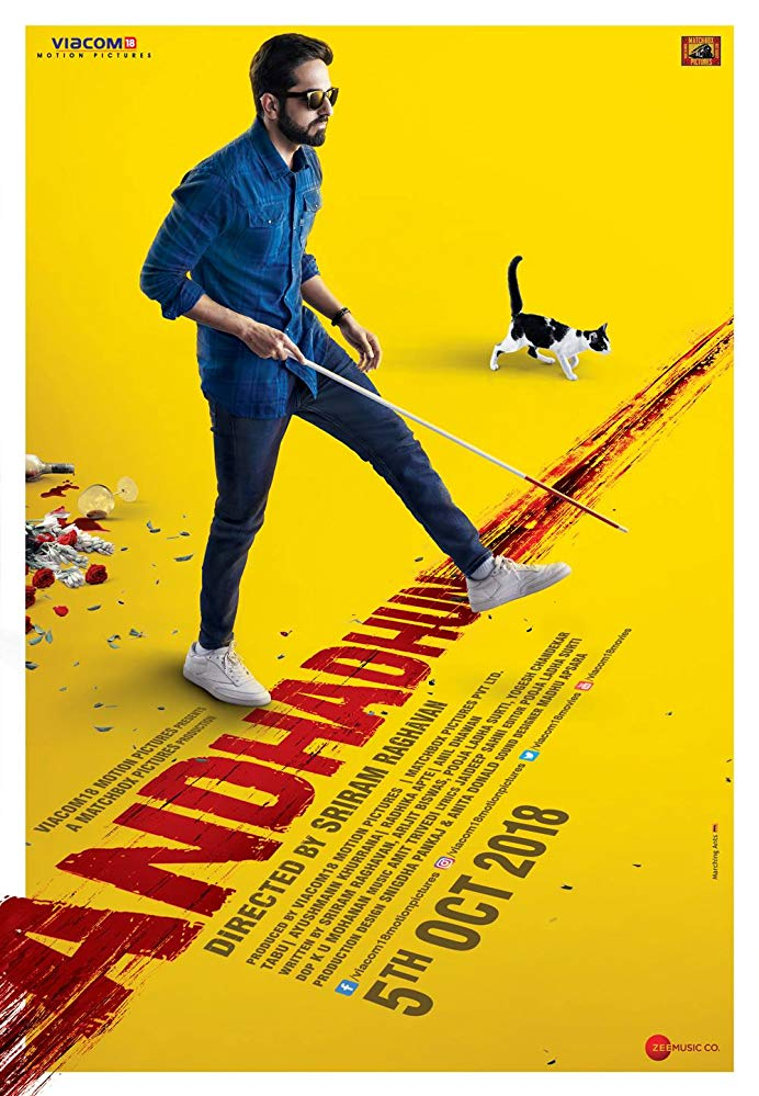 Andhadhun 2018 Hindi 720p BluRay x264 ESub [MW]