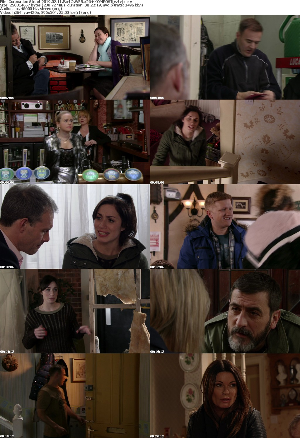 Coronation Street 2019 02 11 Part 2 WEB x264-KOMPOST