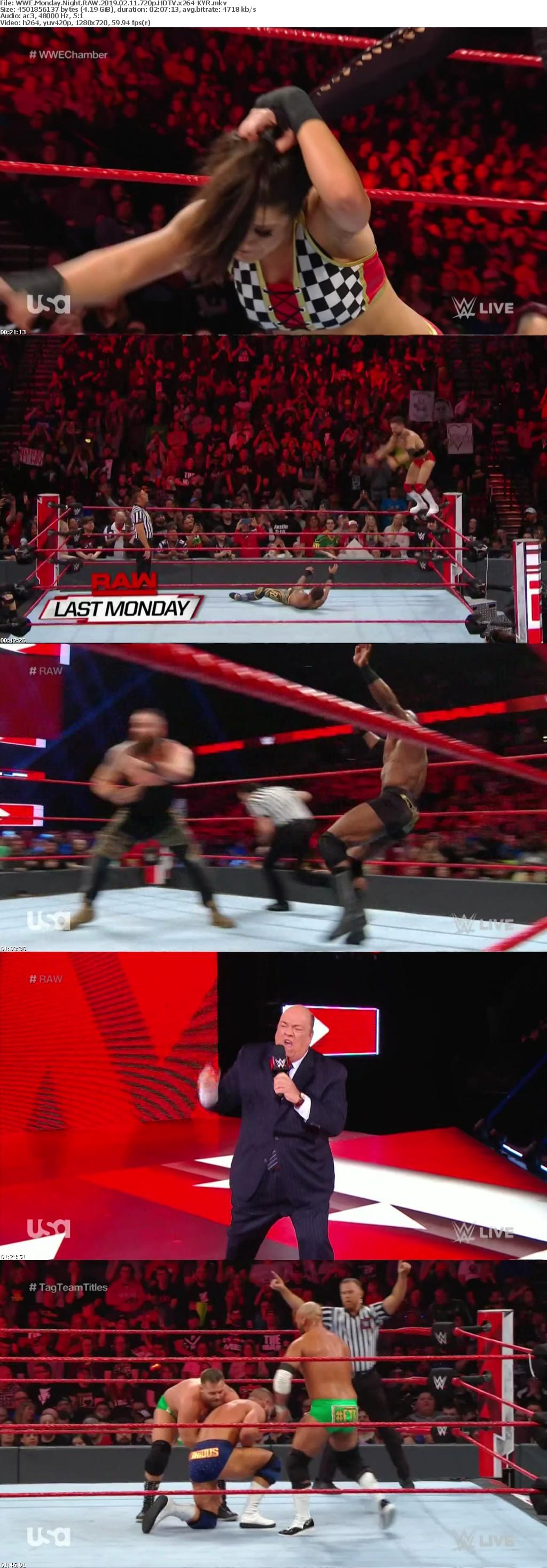 WWE Monday Night RAW 2019 02 11 720p HDTV x264-KYR