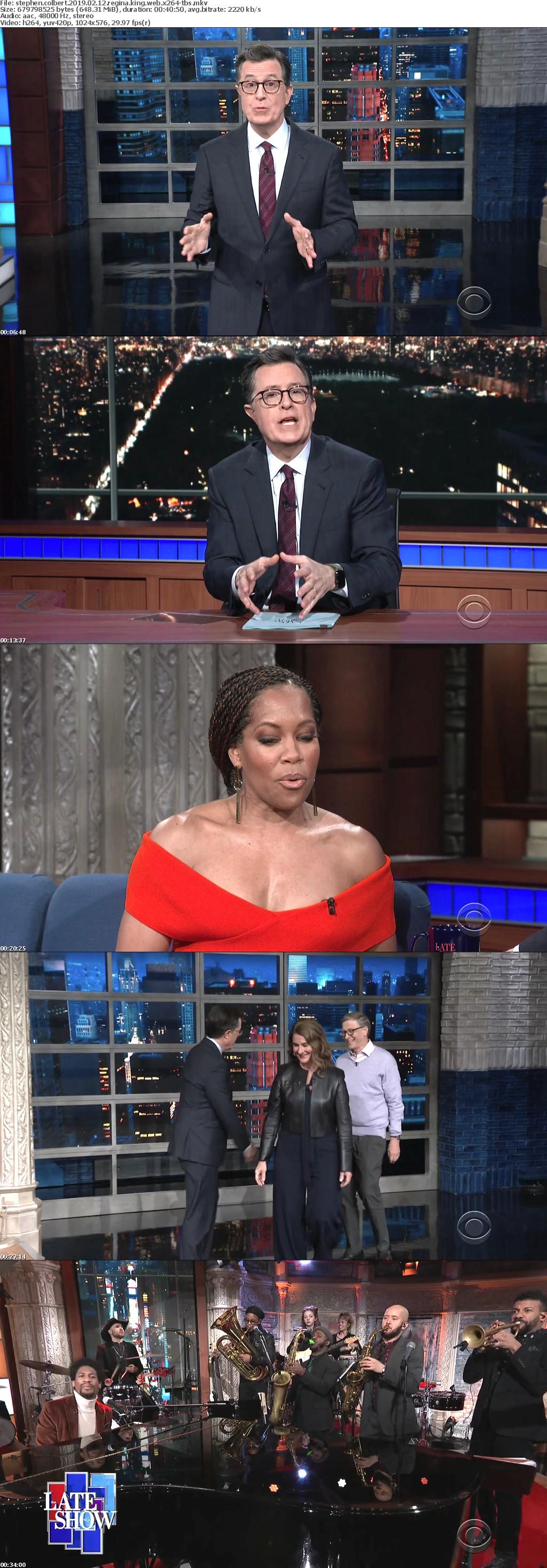 Stephen Colbert 2019 02 12 Regina King WEB x264-TBS
