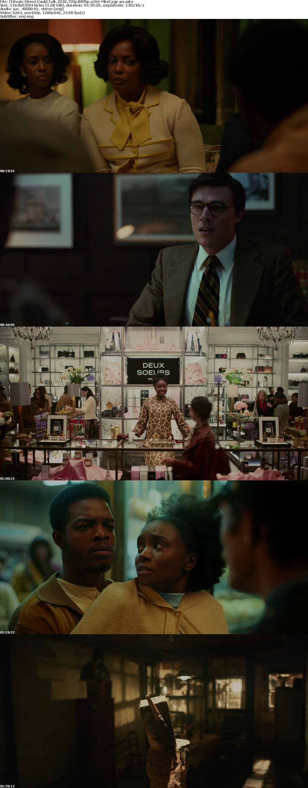 If Beale Street Could Talk 2018 720p BRRip x264-MkvCage