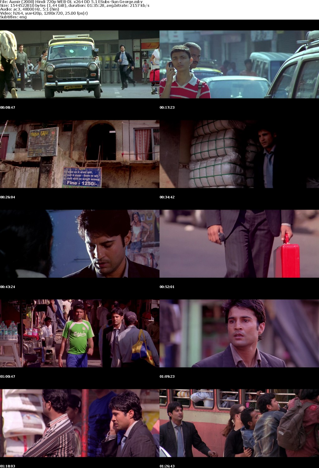 Aamir (2008) Hindi 720p WEB-DL x264 DD 5.1 ESubs-Sun George