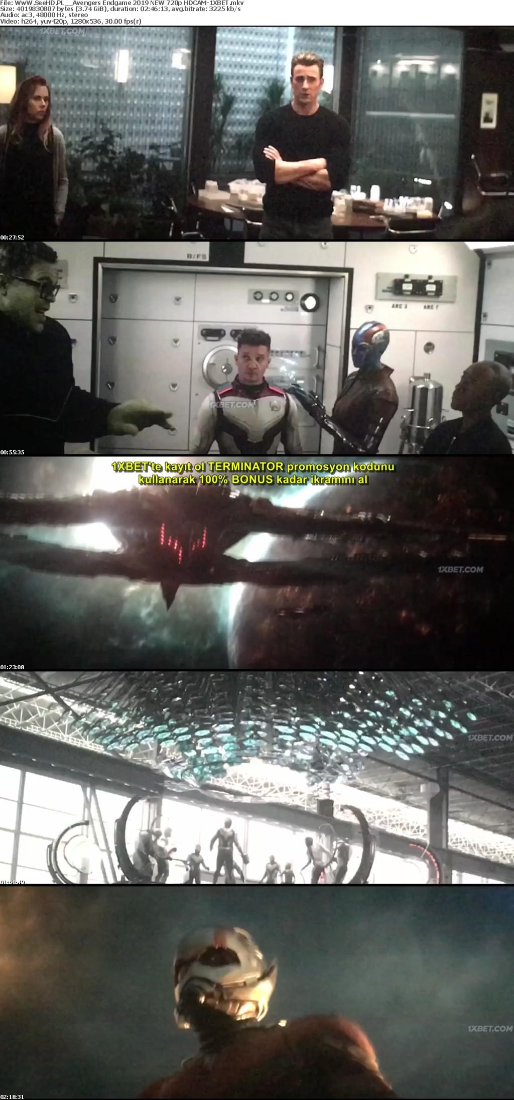 Avengers Endgame 2019 NEW 720p HDCAM-1XBET | Kralpc com