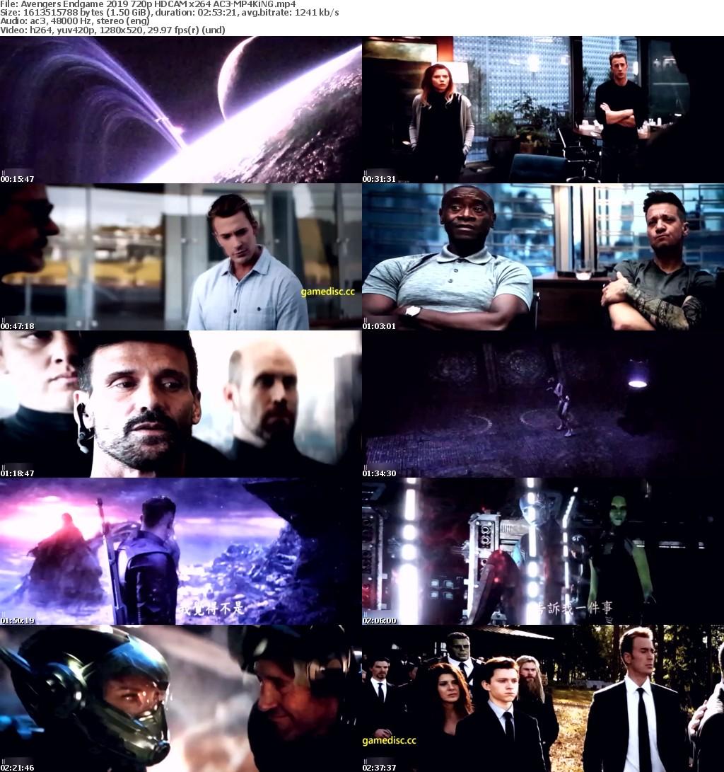 Avengers Endgame (2019) 720p HDCAM x264 AC3-MP4KiNG
