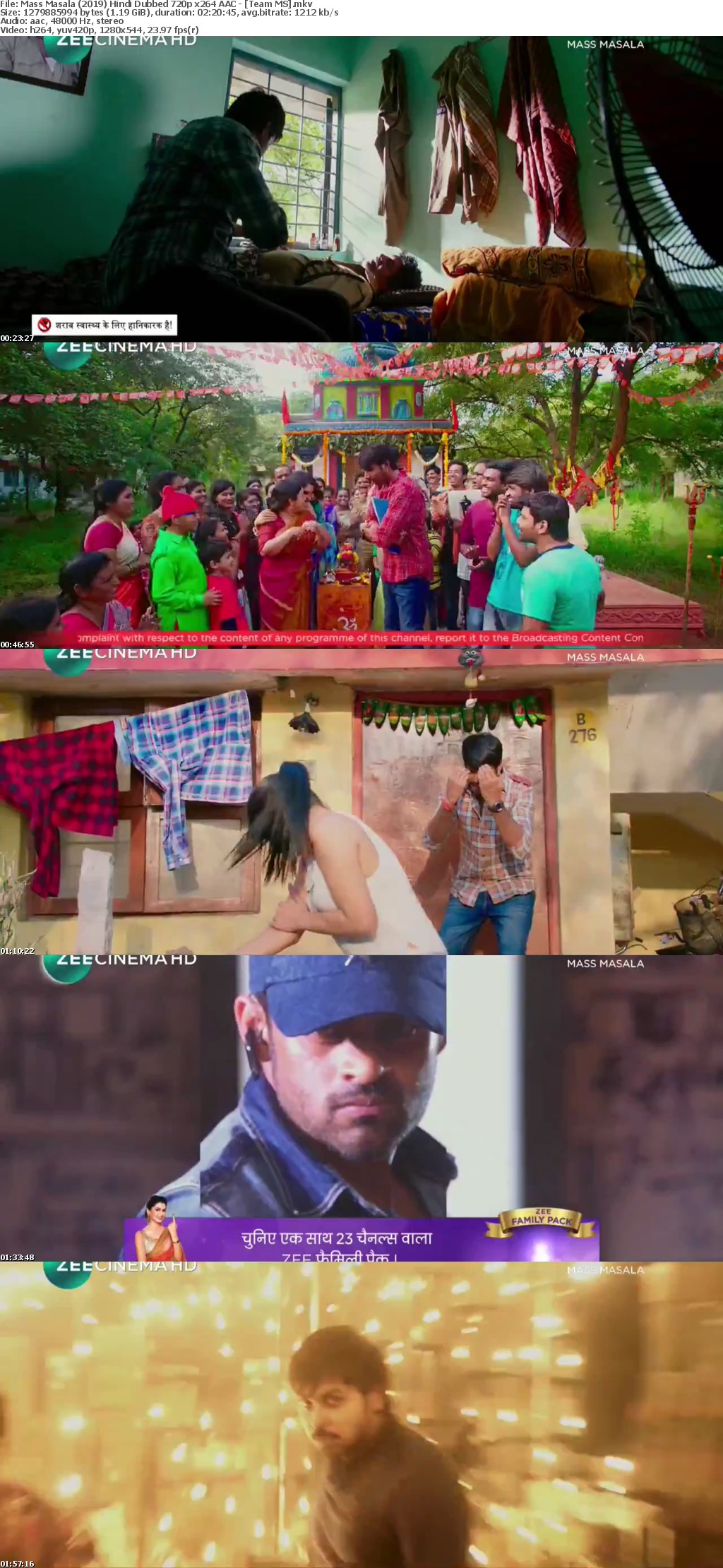 Mass Masala 2019 Hindi Dubbed HDTVRip 720p x264 AAC - [Team MS]