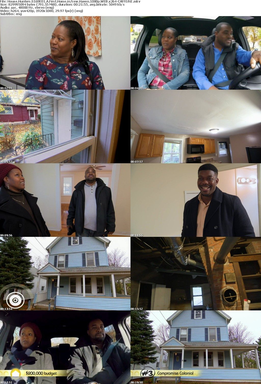 House Hunters S169E01 A First Home in New Haven 1080p WEB x264-CAFFEiNE
