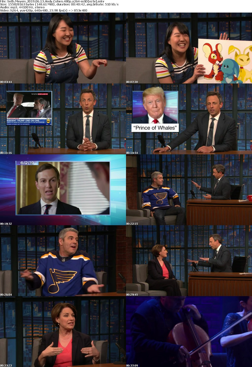 Seth Meyers 2019 06 13 Andy Cohen 480p x264-mSD