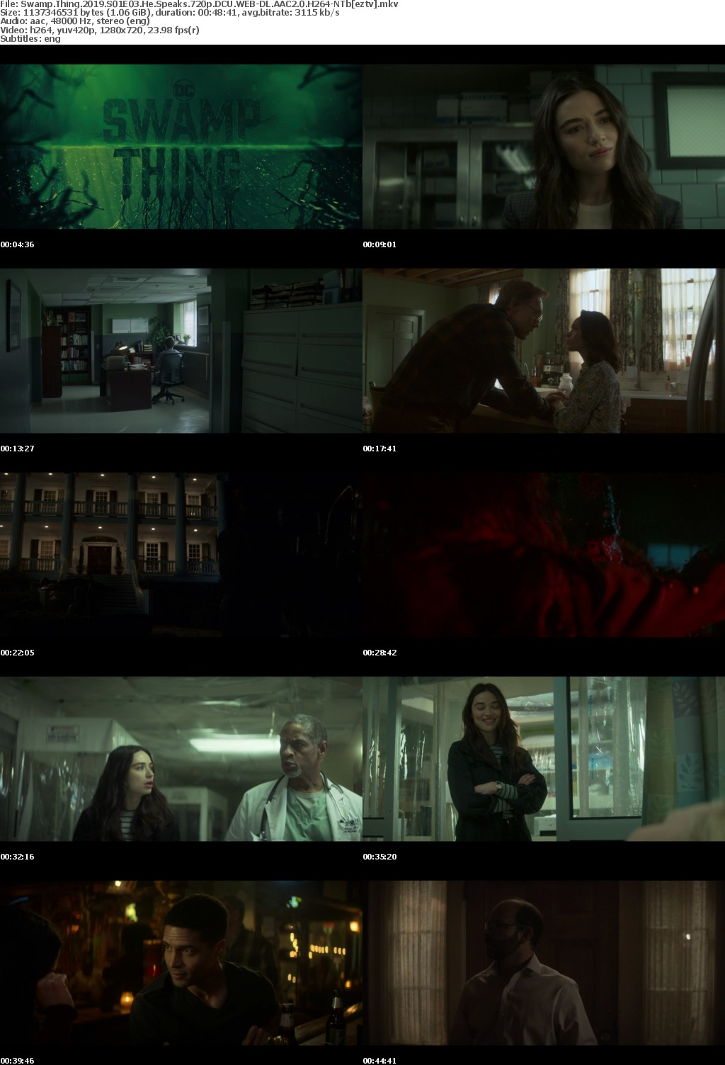 Swamp Thing 2019 S01E03 He Speaks 720p DCU WEB-DL AAC2 0 H264-NTb