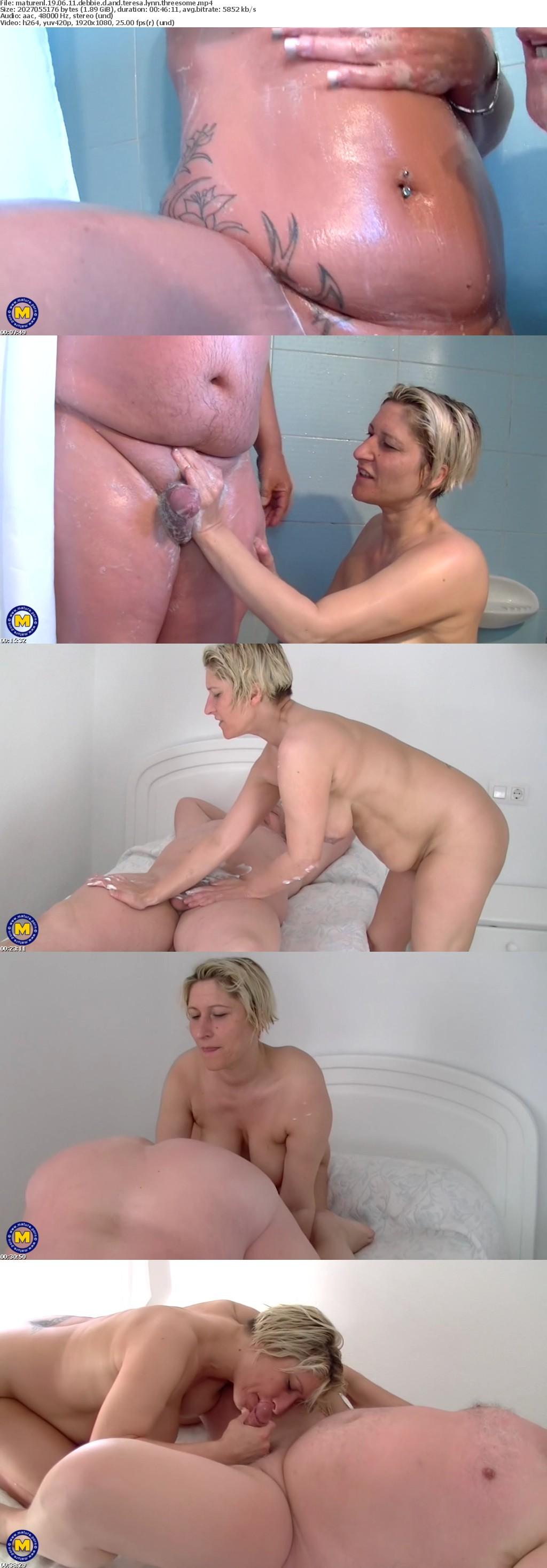 MatureNL 19 06 11 Debbie D And Teresa Lynn Threesome XXX 1080p MP4-KTR