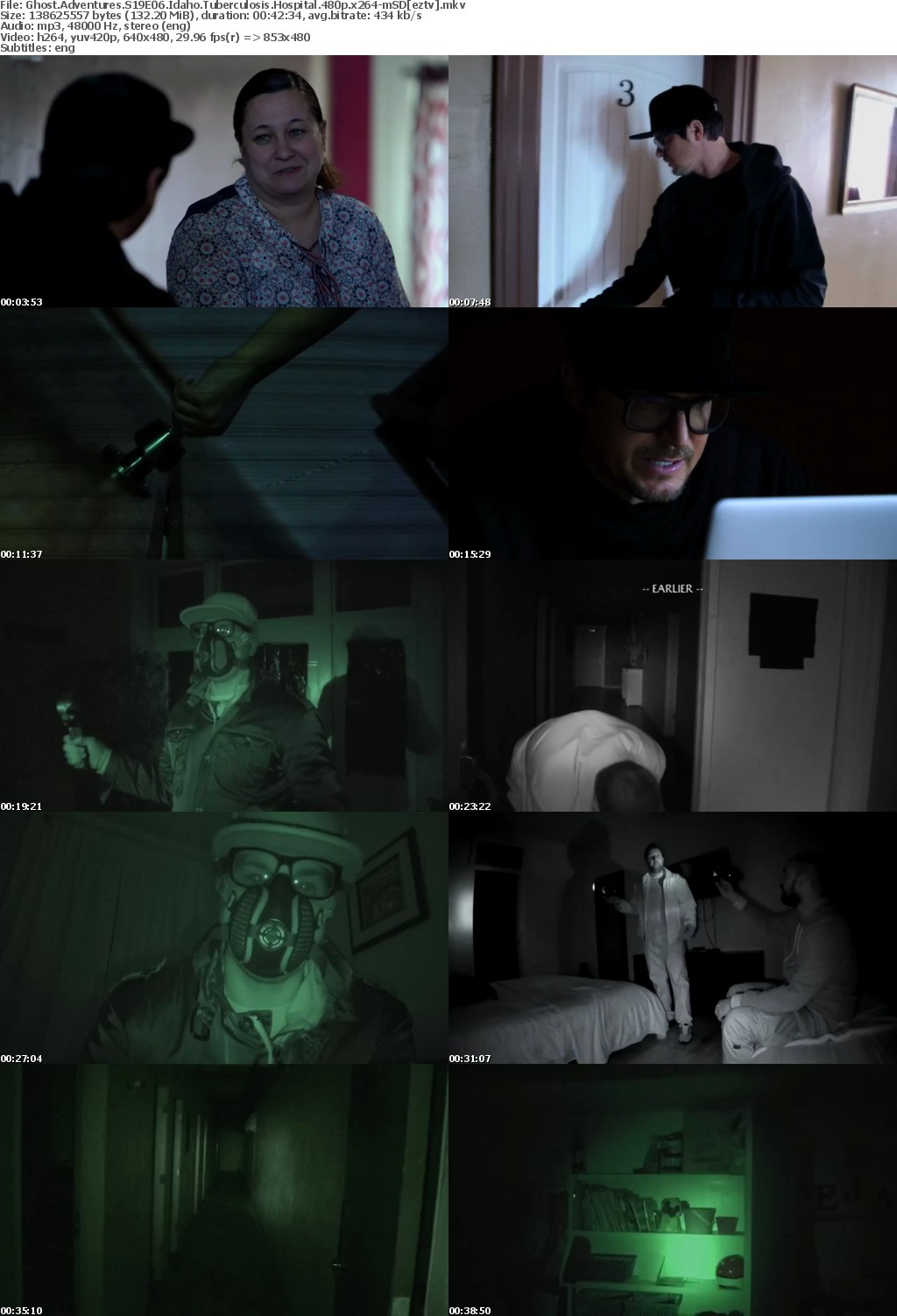 Ghost Adventures S19E06 Idaho Tuberculosis Hospital 480p x264 mSD