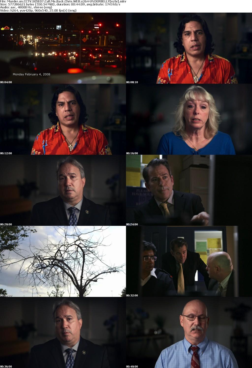 Murder on CCTV S05E07 Call Me Back Chris WEB x264 UNDERBELLY