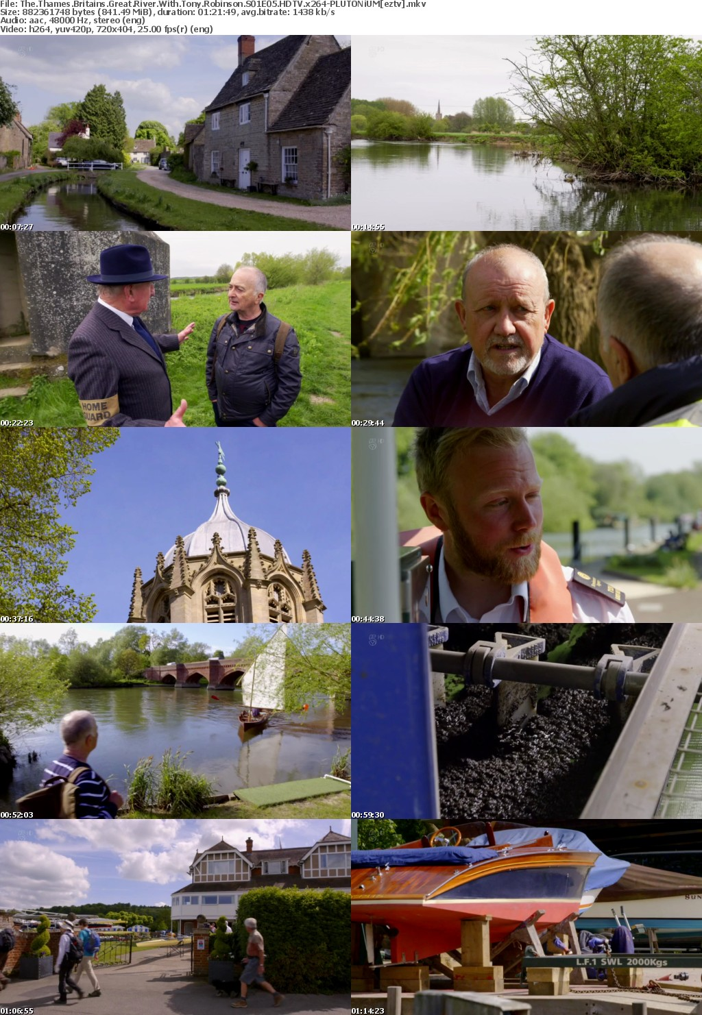 The Thames Britains Great River With Tony Robinson S01E05 HDTV x264 PLUTONiUM