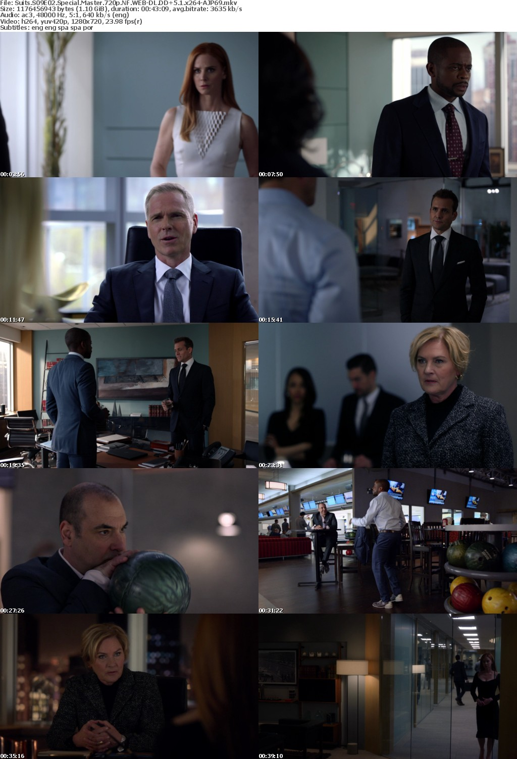 Suits S09E02 Special Master 720p NF WEB-DL DD+5 1 x264-AJP69