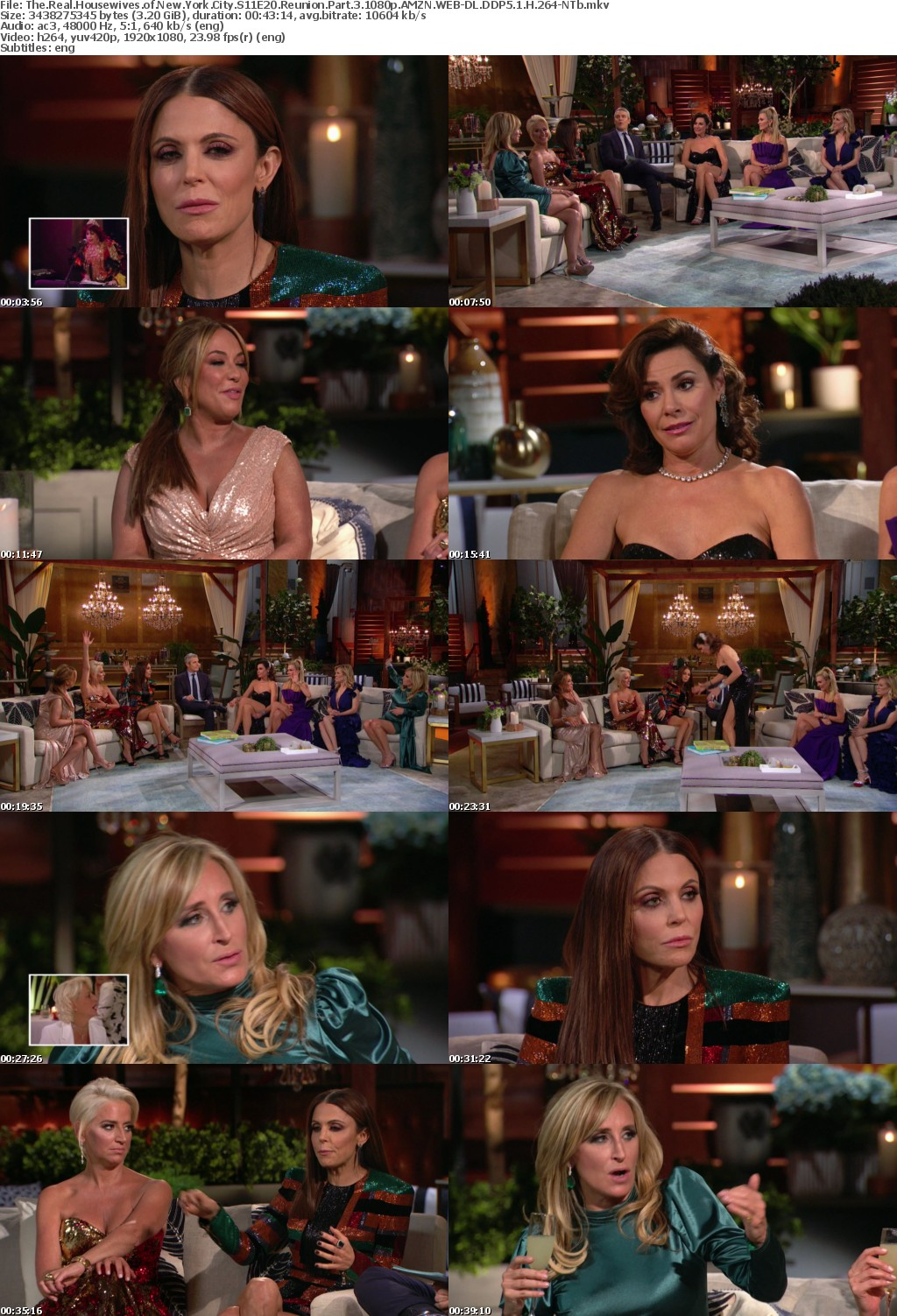 The Real Housewives of New York City S11E20 Reunion Part 3 1080p AMZN WEB-DL DDP5 1 H 264-NTb
