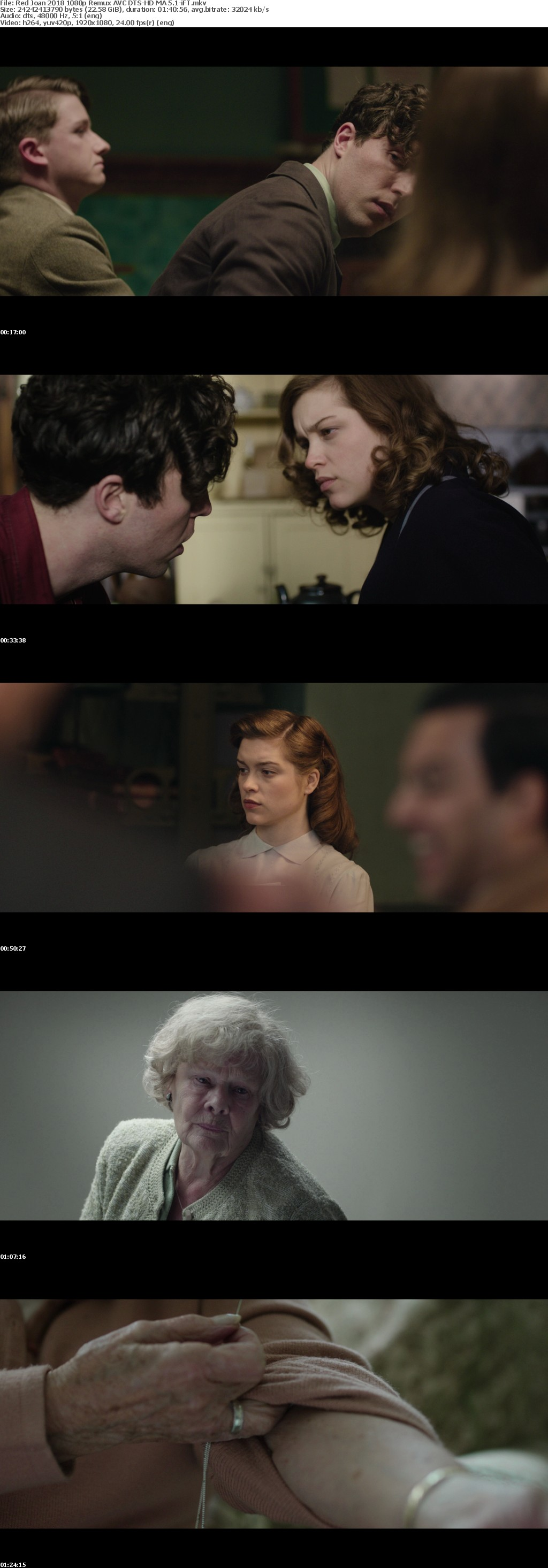 Red Joan 2018 1080p Remux AVC DTS-HD MA 5 1-iFT
