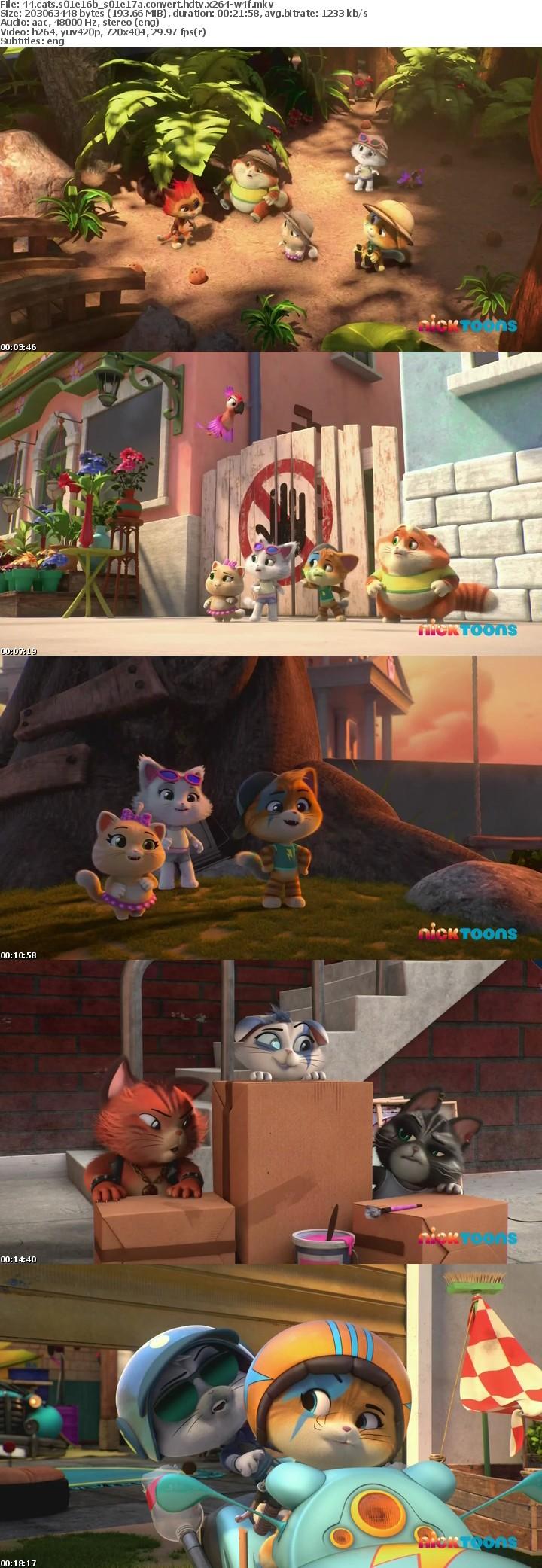 44 Cats S01E16b S01E17a CONVERT HDTV x264-W4F