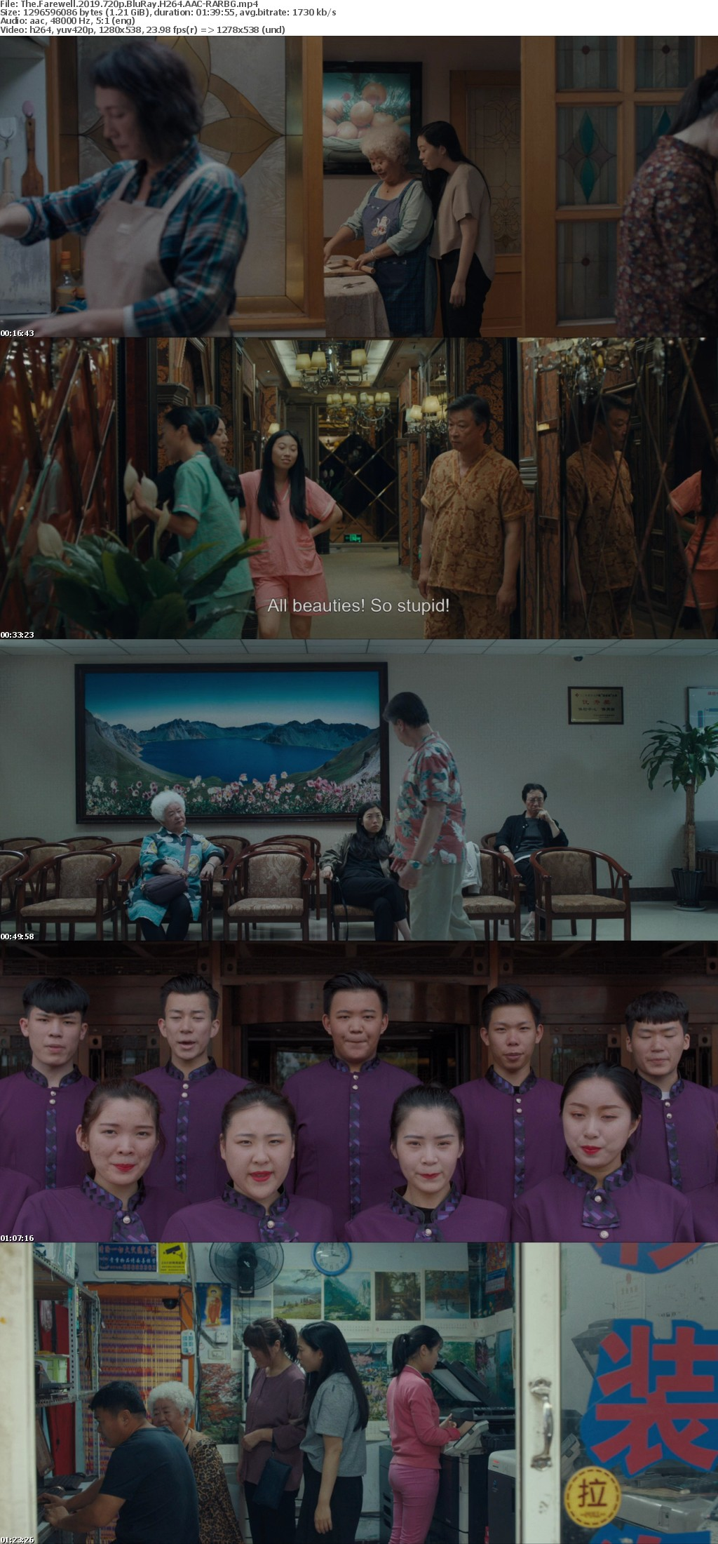 The Farewell 2019 720p BluRay H264 AAC-RARBG
