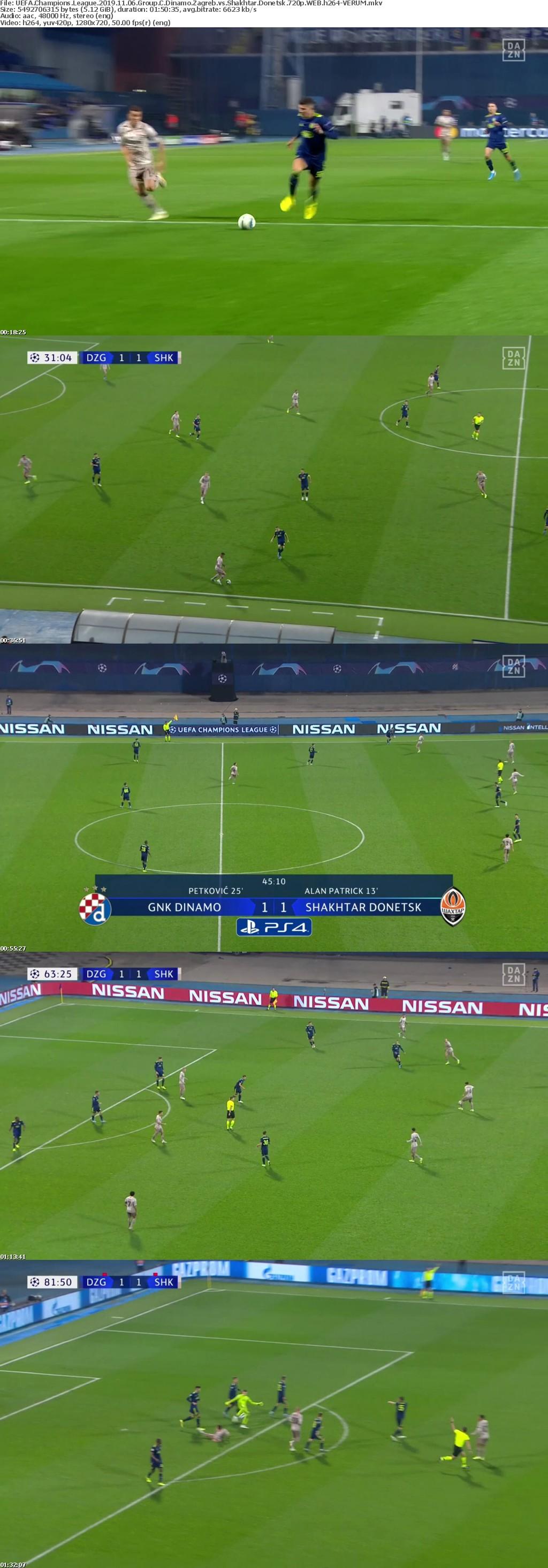 UEFA Champions League 2019 11 06 Group C Dinamo Zagreb vs Shakhtar Donetsk 720p WEB h264-VERUM