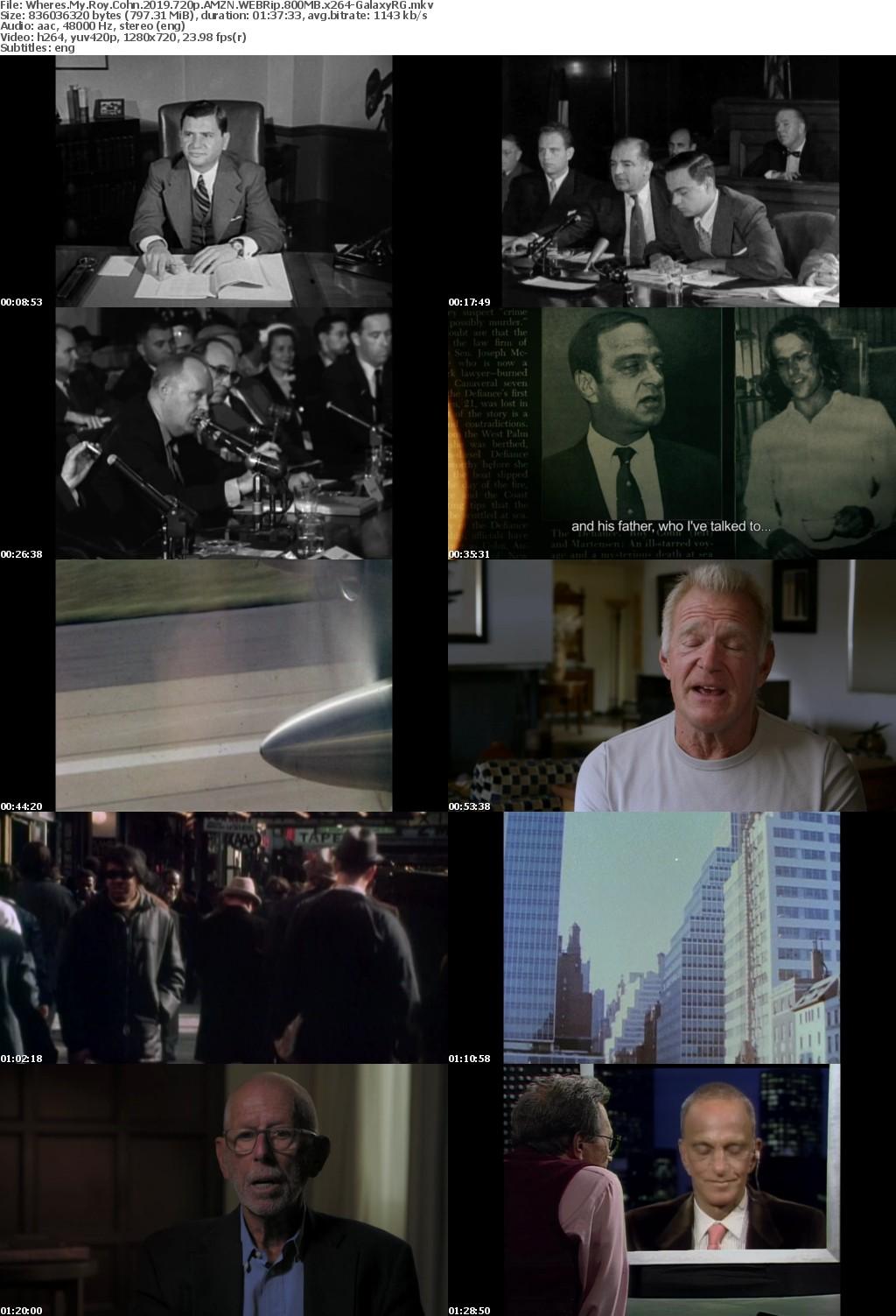 Wheres My Roy Cohn (2019) 720p AMZN WEBRip 800MB x264-GalaxyRG