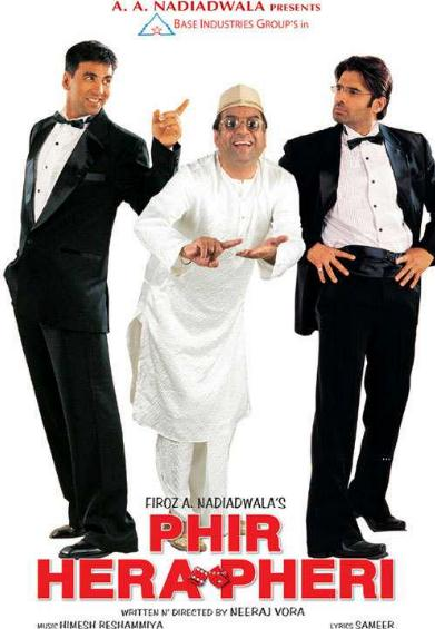 Phir Hera Pheri 2006 Hindi 720p WEB DL x264 AC3 ESub-Sun.George