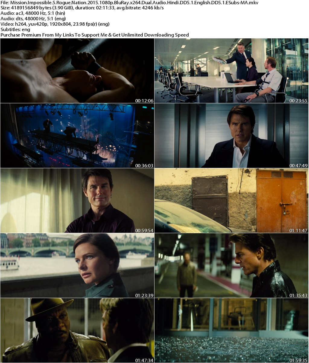 Mission Impossible Rogue Nation (2015) 1080p BluRay x264 Dual Audio Hindi DD5.1 English DD5.1 ESubs-MA