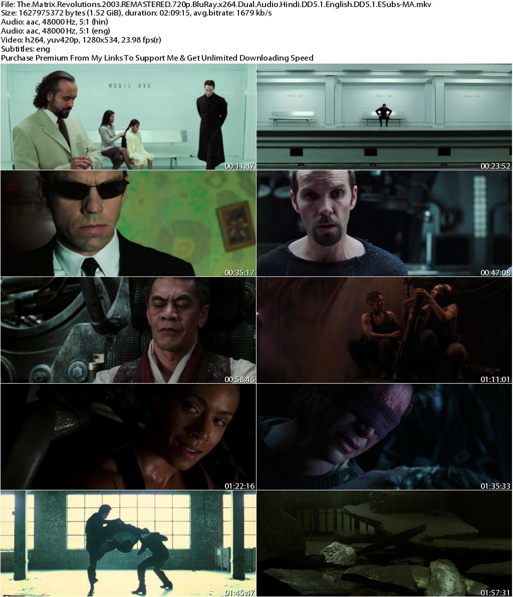The Matrix Revolutions (2003) REMASTERED 720p BluRay x264 Dual Audio Hindi DD5.1 English DD5.1 ESubs-MA